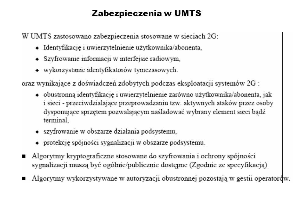 Zabezpieczenia w UMTS