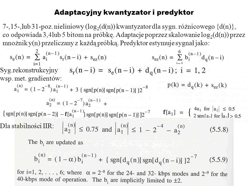 Adaptacyjny kwantyzator i predyktor