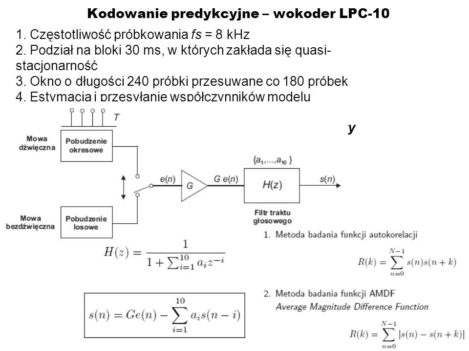 Kodowanie predykcyjne – wokoder LPC-10