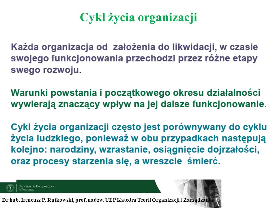 Cykl życia organizacji