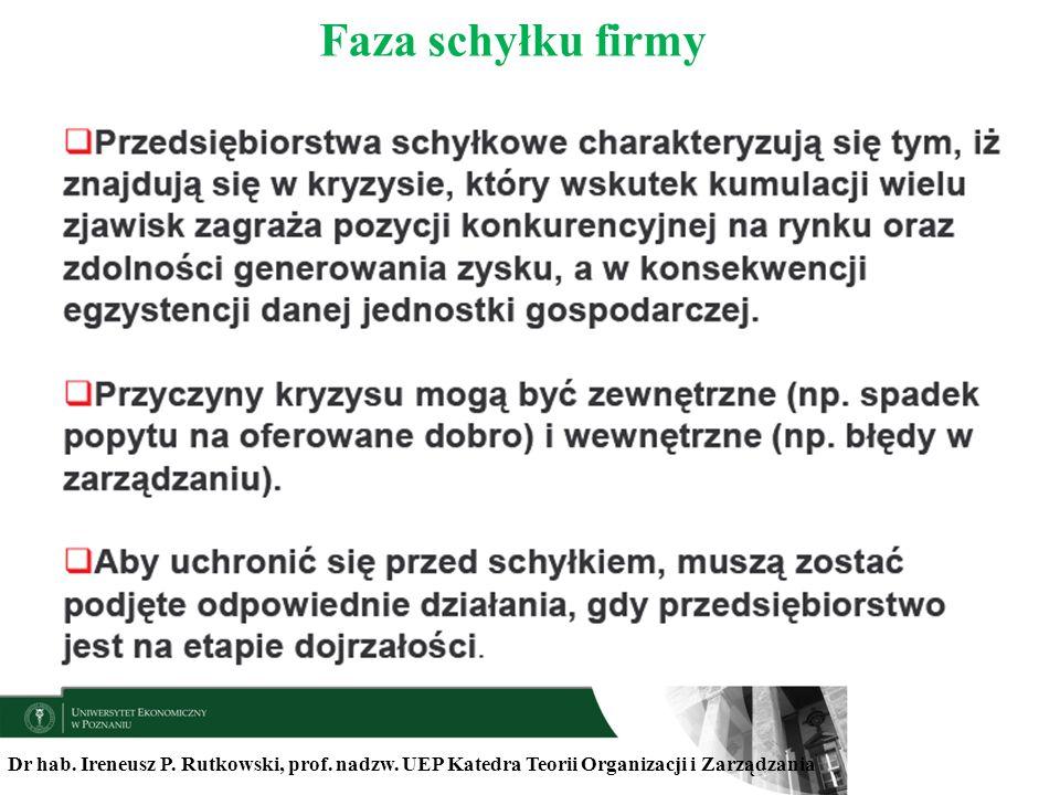 Faza schyłku firmyDr hab.Ireneusz P. Rutkowski, prof.