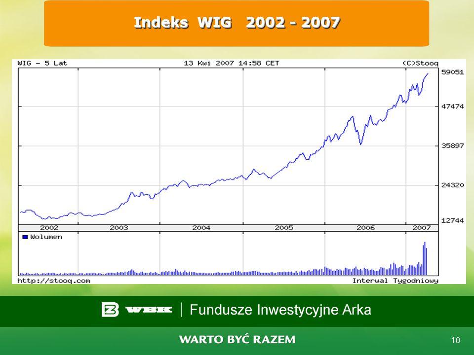 Indeks WIG 2002 - 2007