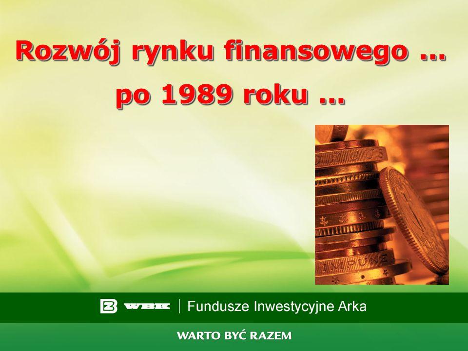 Rozwój rynku finansowego ... po 1989 roku ...