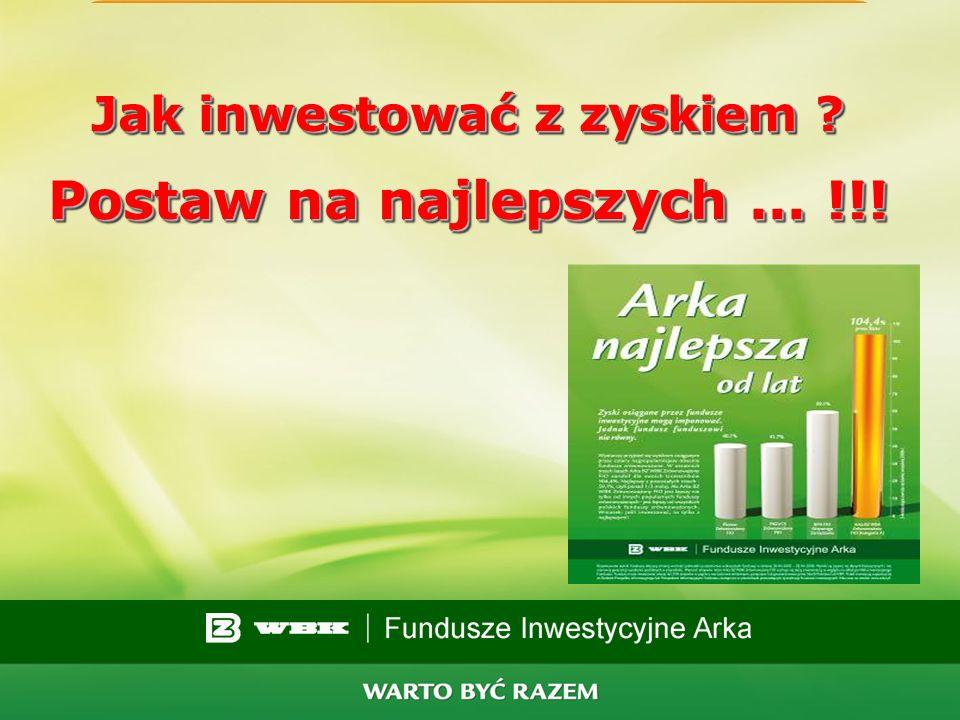 Jak inwestować z zyskiem Postaw na najlepszych ... !!!