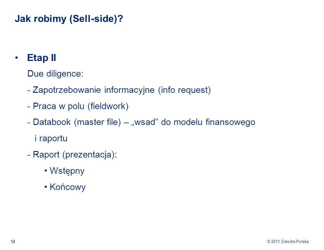 Jak robimy (Sell-side)