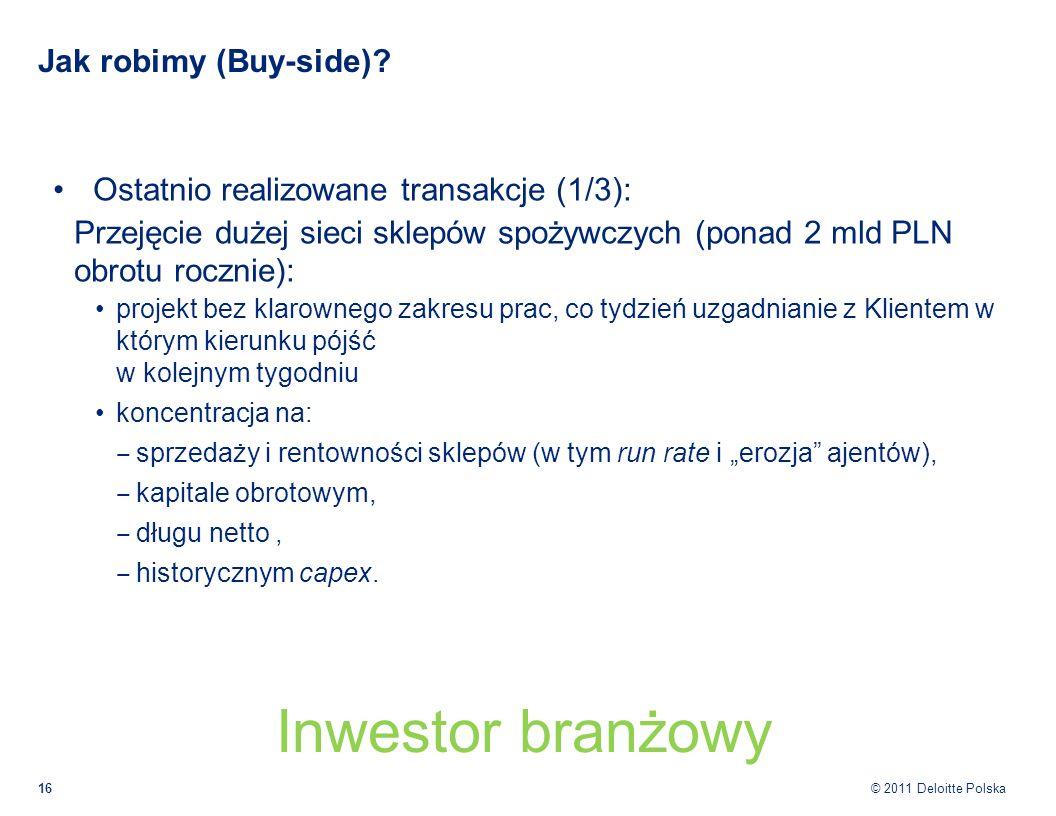Inwestor branżowy Jak robimy (Buy-side)