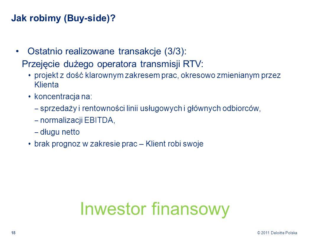 Inwestor finansowy Jak robimy (Buy-side)
