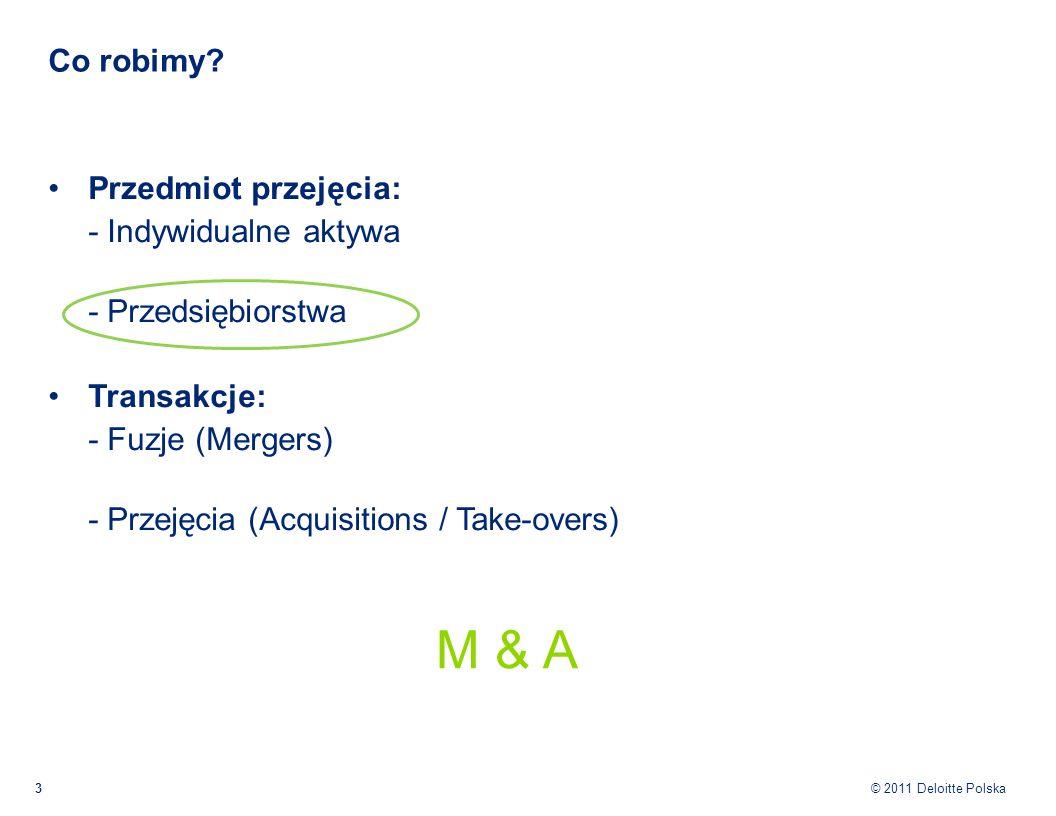 M & A Co robimy Przedmiot przejęcia: - Indywidualne aktywa