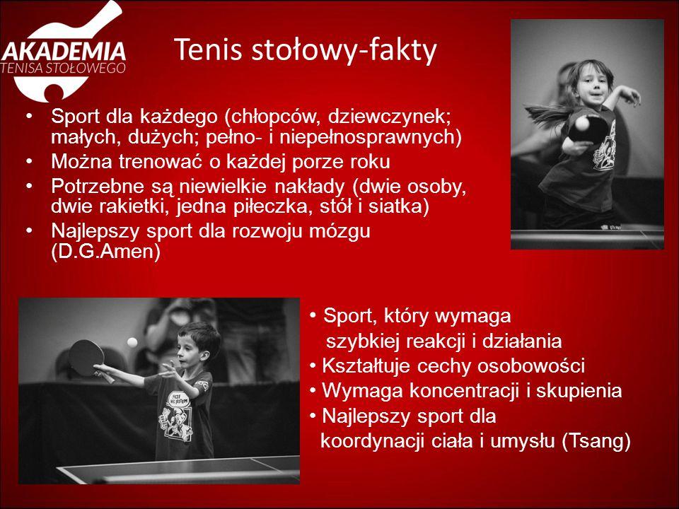 Tenis stołowy-fakty Sport, który wymaga