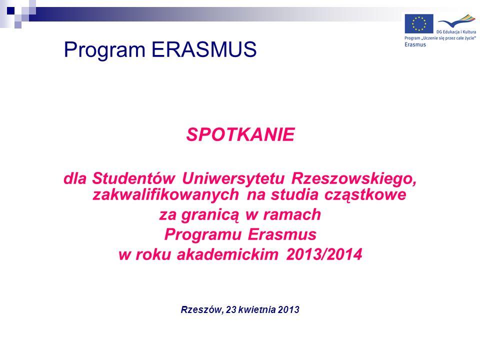 Program ERASMUS SPOTKANIE