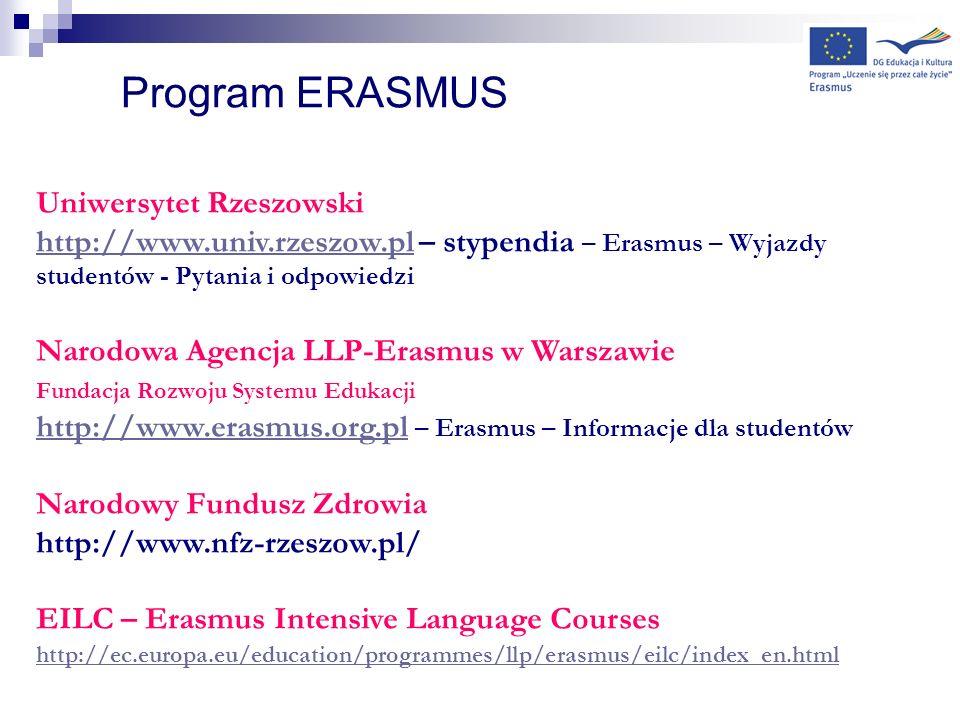 Program ERASMUS Uniwersytet Rzeszowski