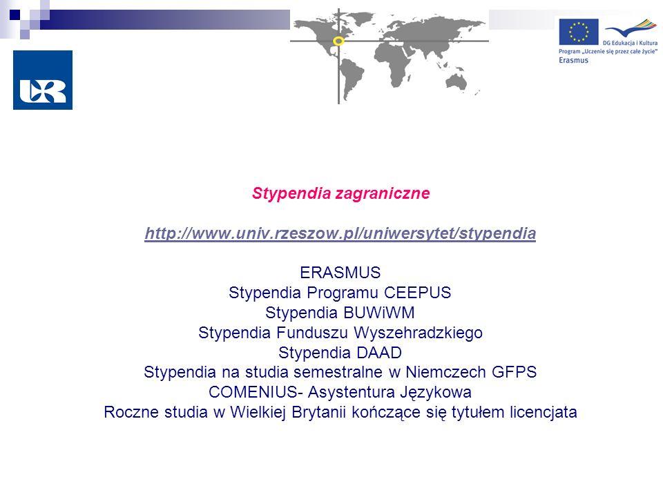 Stypendia zagraniczne http://www. univ. rzeszow