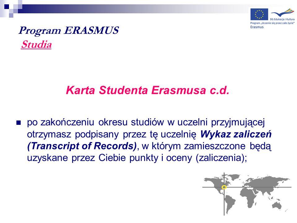 Program ERASMUS Studia