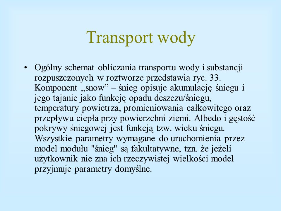 Transport wody