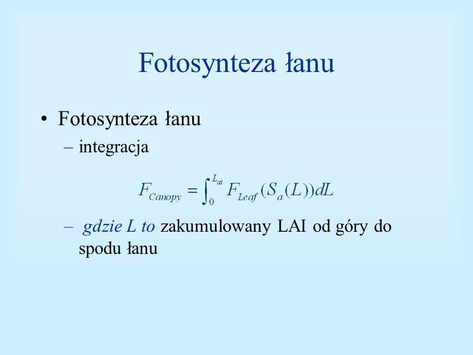 Fotosynteza łanu Fotosynteza łanu integracja