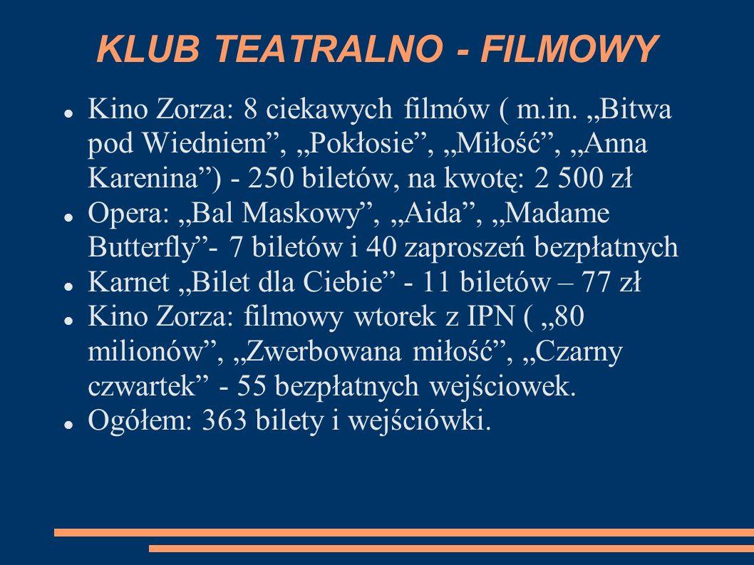 KLUB TEATRALNO - FILMOWY