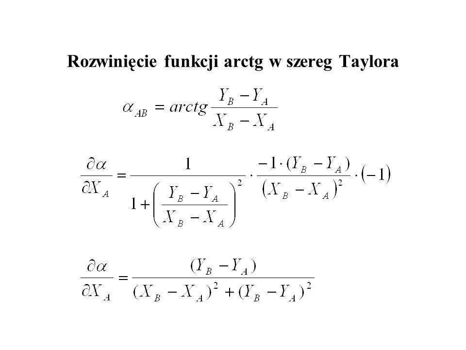 Rozwinięcie funkcji arctg w szereg Taylora
