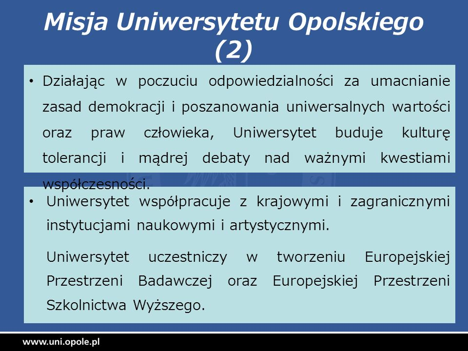 Misja Uniwersytetu Opolskiego (2)