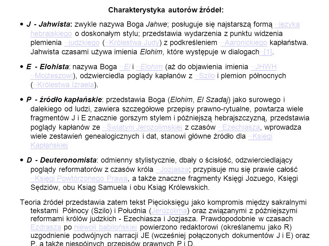 Charakterystyka autorów źródeł: