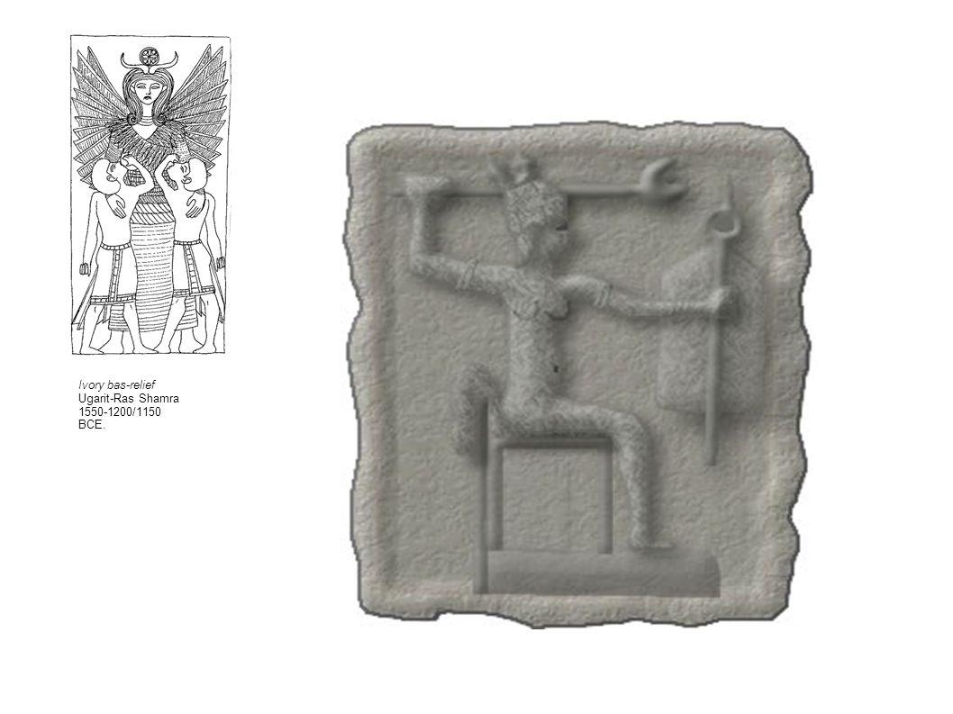 Ivory bas-relief Ugarit-Ras Shamra 1550-1200/1150 BCE.