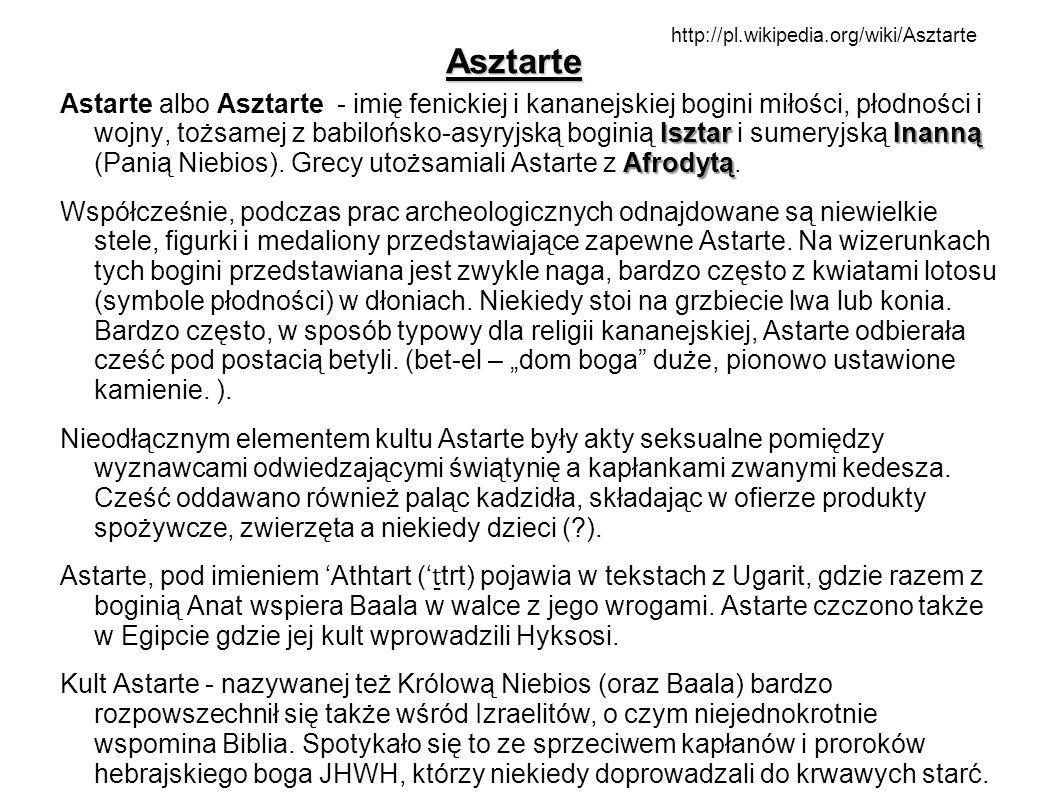 Asztartehttp://pl.wikipedia.org/wiki/Asztarte.