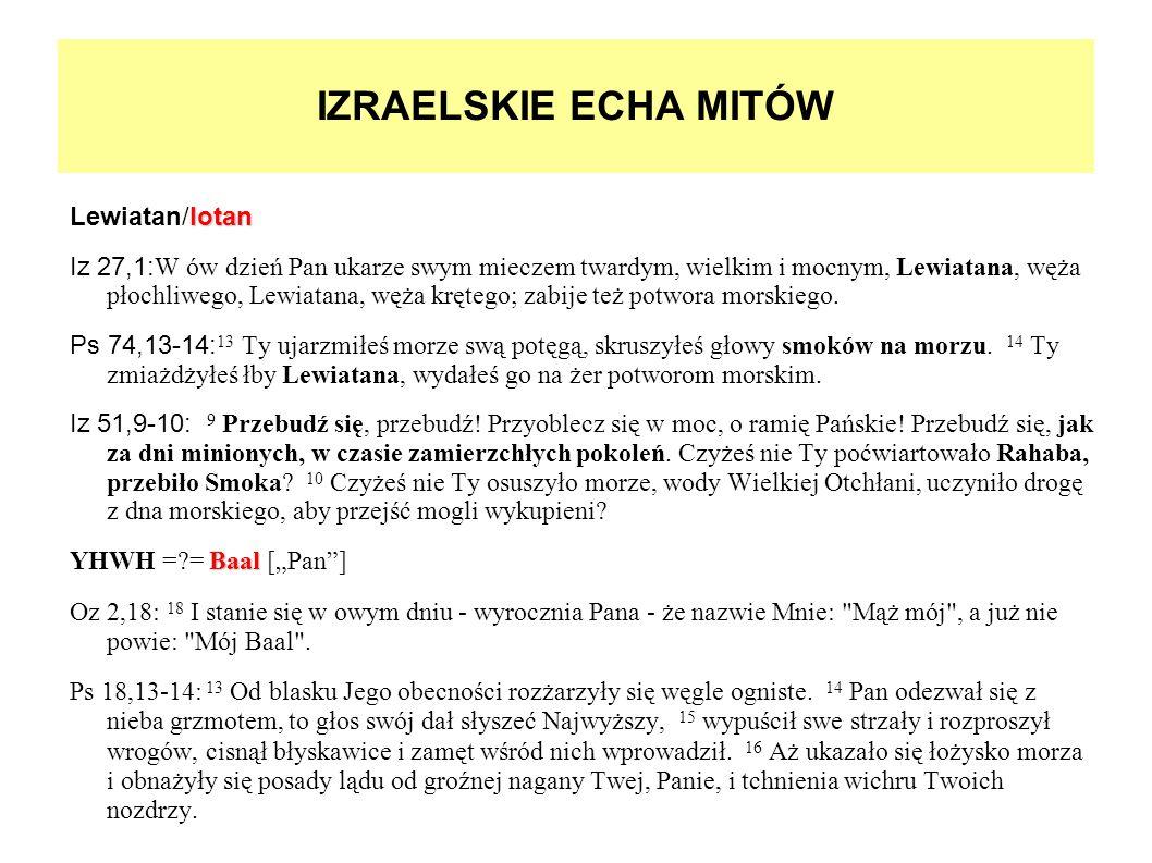 IZRAELSKIE ECHA MITÓW Lewiatan/lotan