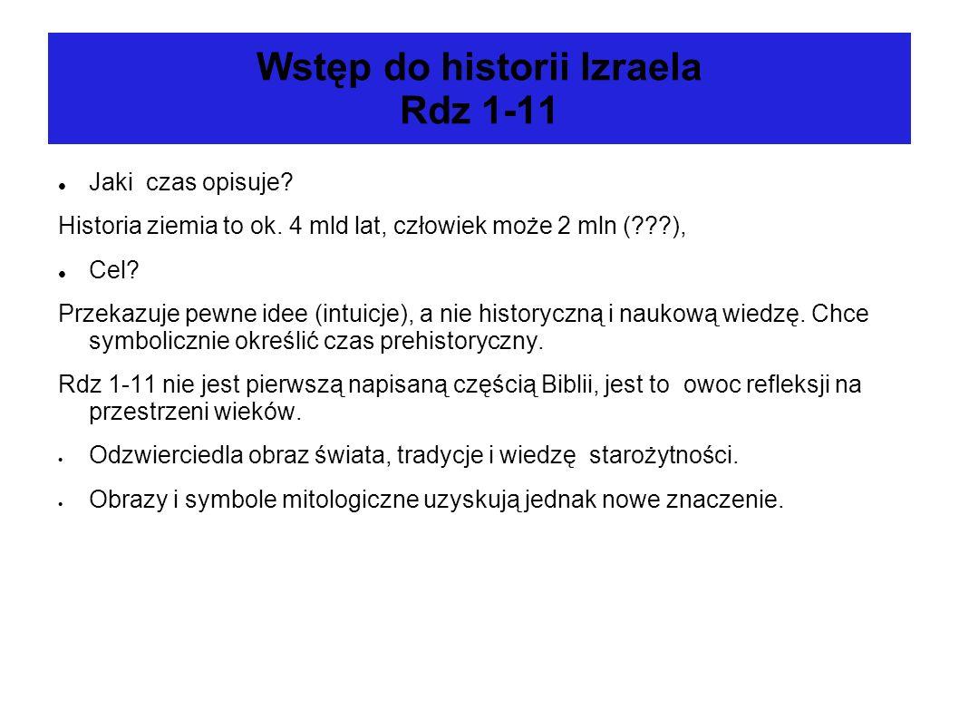 Wstęp do historii Izraela Rdz 1-11