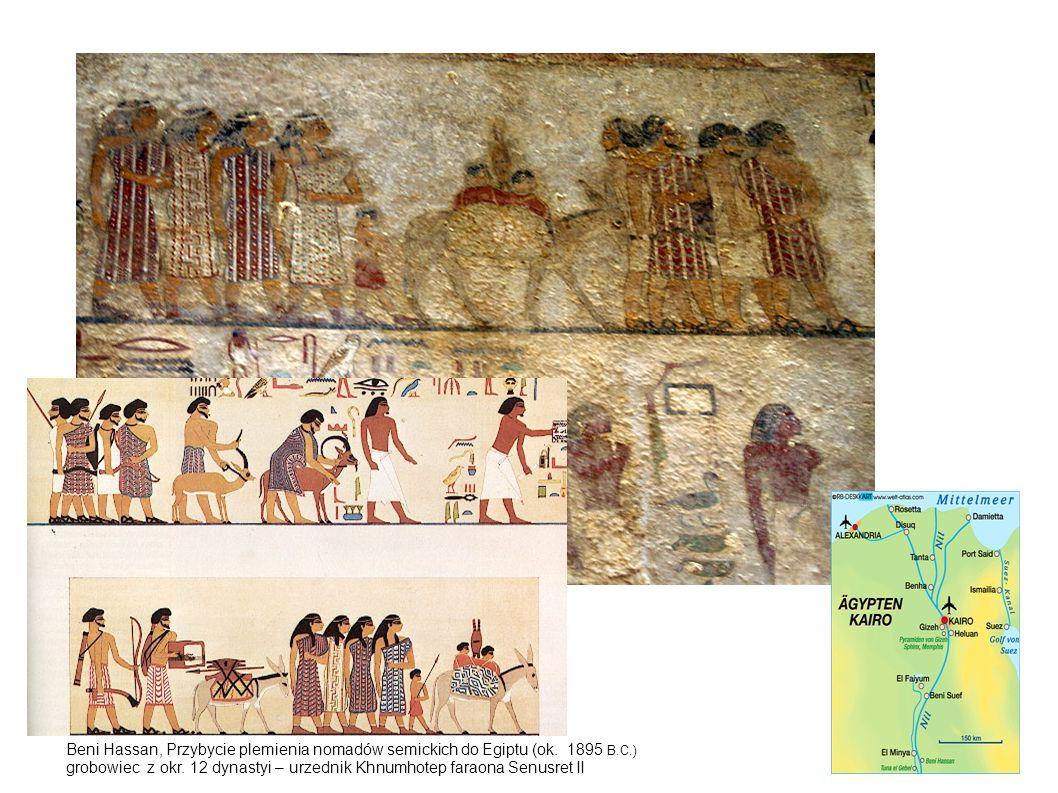 Beni Hassan, Przybycie plemienia nomadów semickich do Egiptu (ok