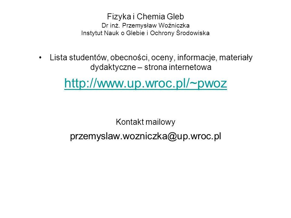 http://www.up.wroc.pl/~pwoz przemyslaw.wozniczka@up.wroc.pl