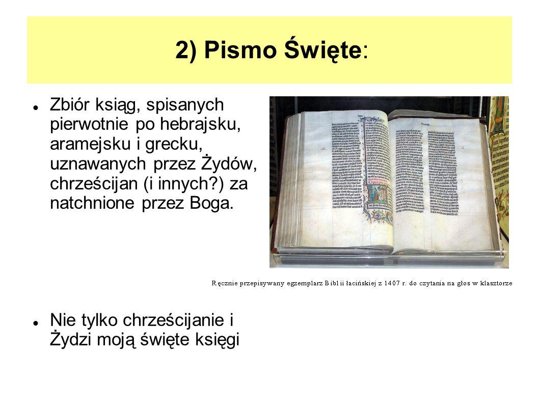 2) Pismo Święte: