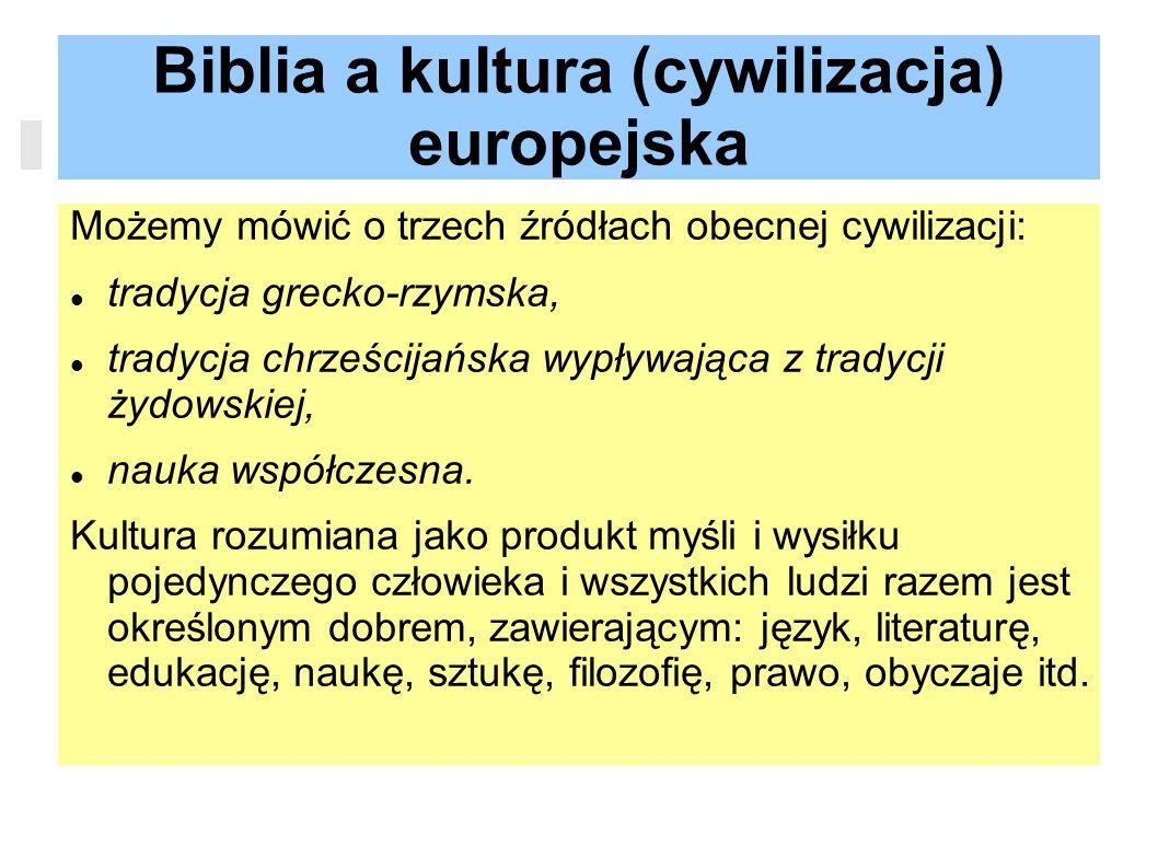 Biblia a kultura (cywilizacja) europejska