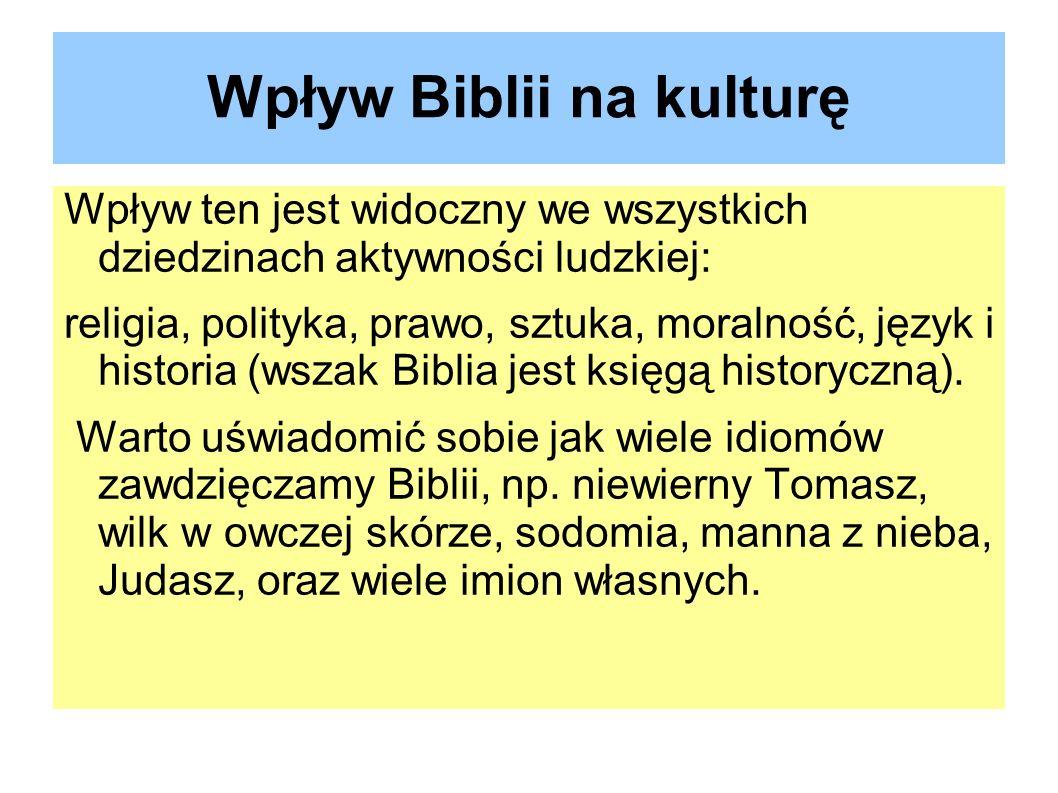 Wpływ Biblii na kulturę