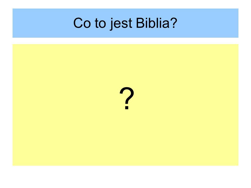 Co to jest Biblia