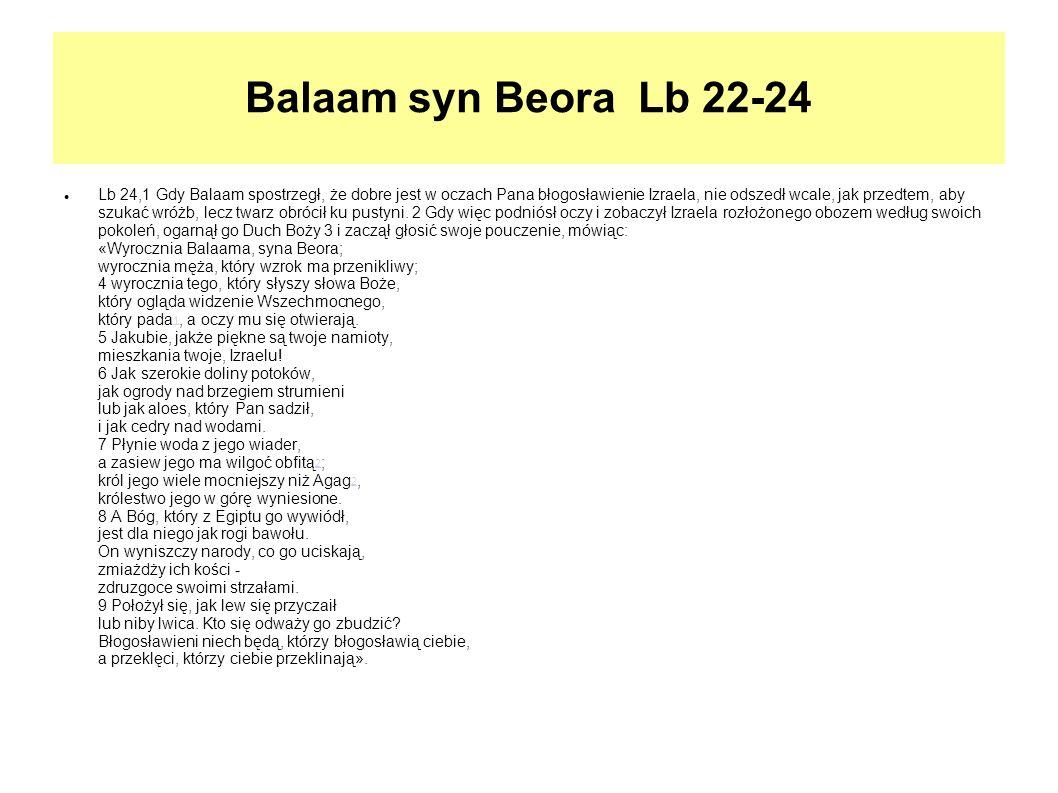 Balaam syn Beora Lb 22-24