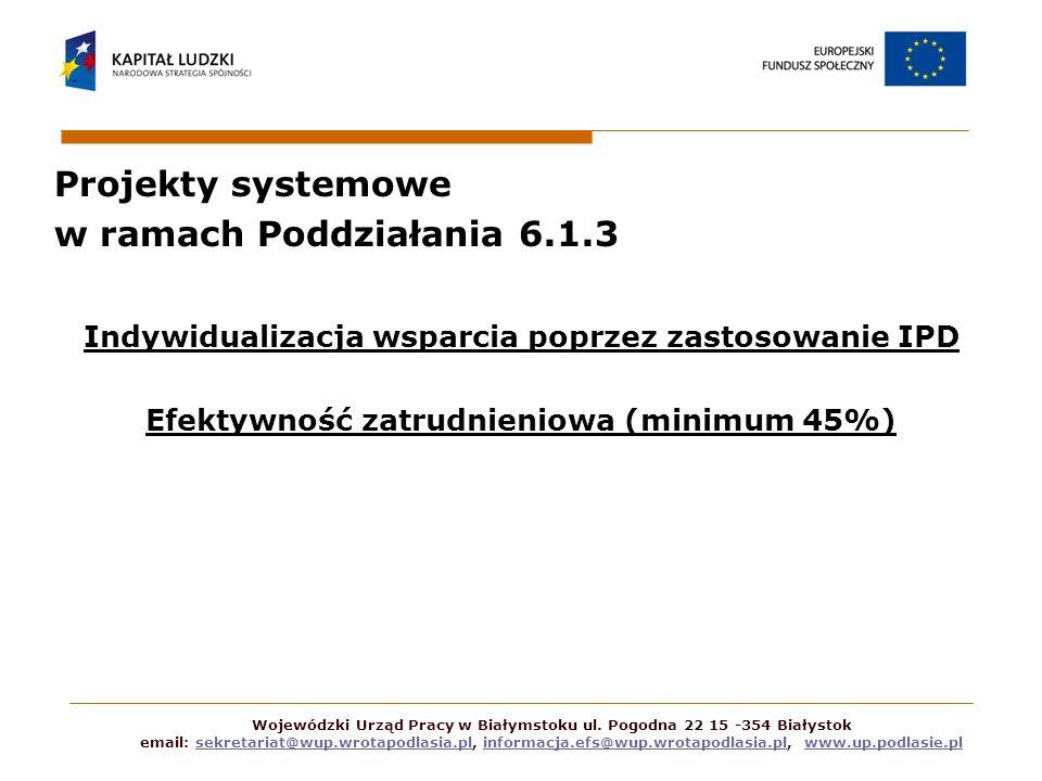 Projekty systemowe w ramach Poddziałania 6.1.3