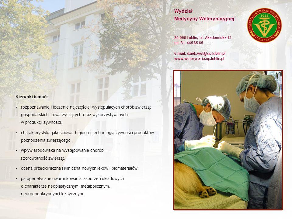 Wydział Medycyny Weterynaryjnej