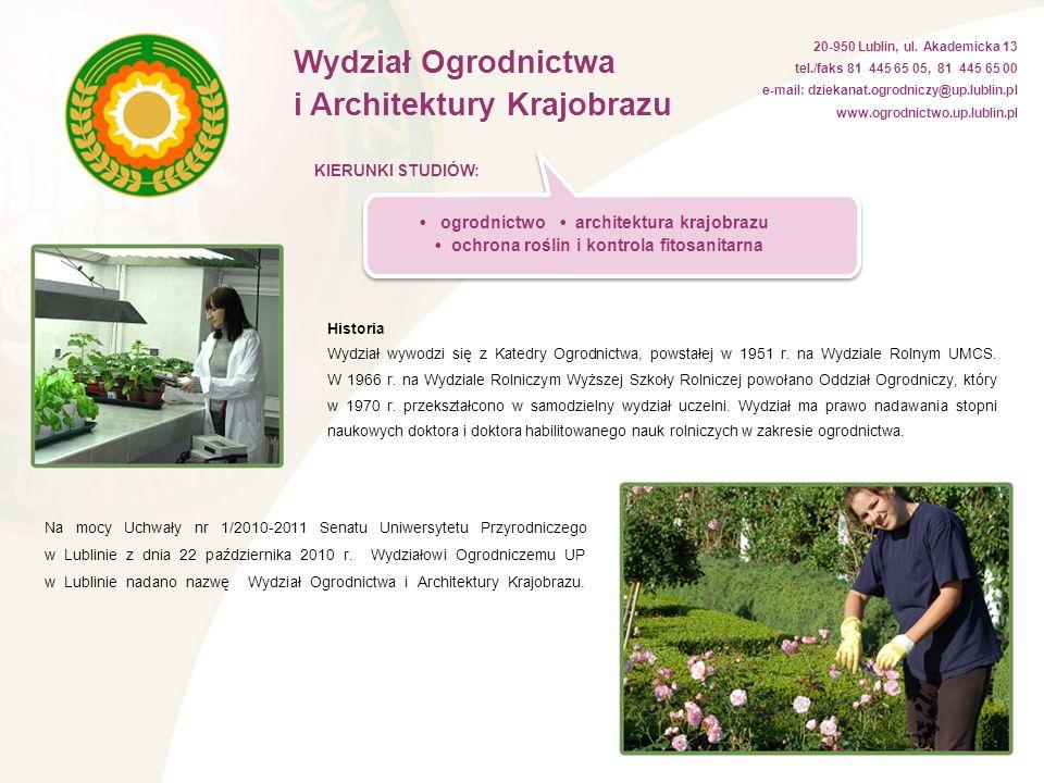 • ochrona roślin i kontrola fitosanitarna