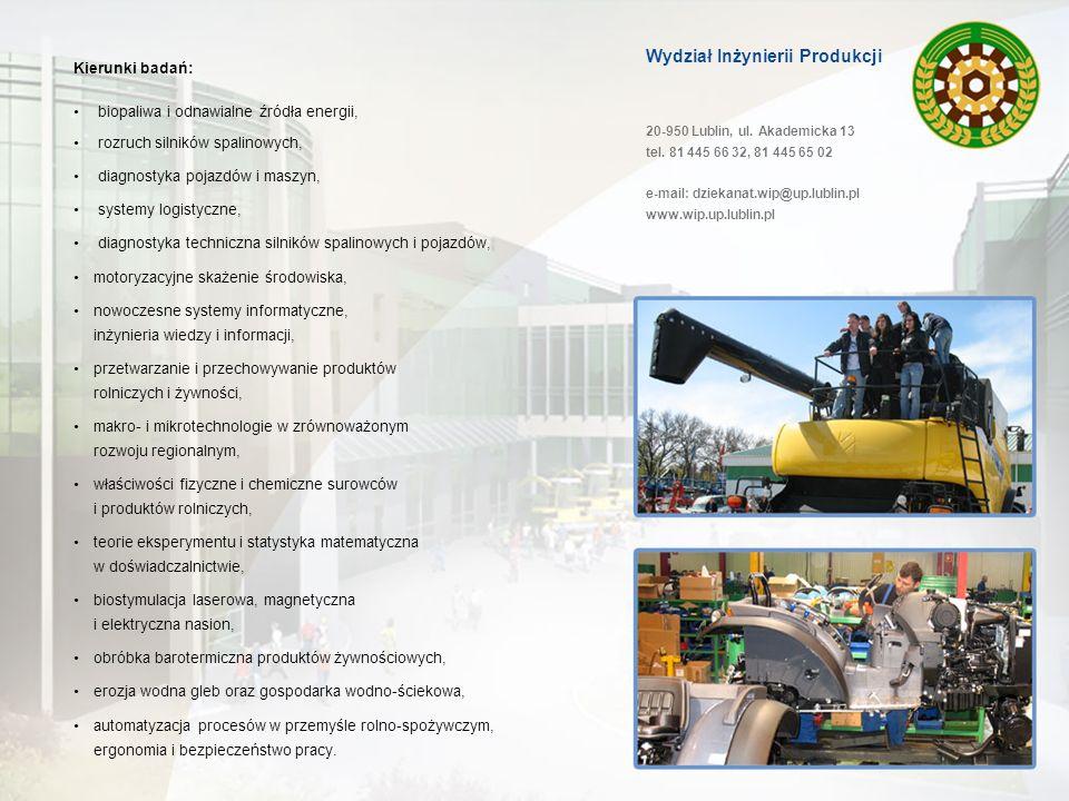 Wydział Inżynierii Produkcji