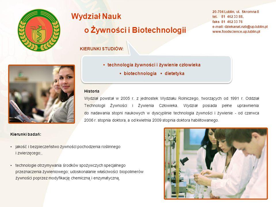 o Żywności i Biotechnologii