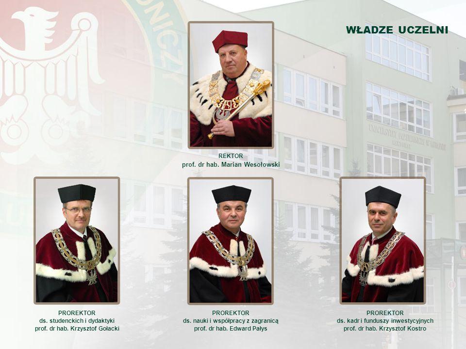 WŁADZE UCZELNI prof. dr hab. Marian Wesołowski REKTOR PROREKTOR