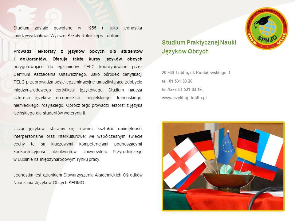 Studium Praktycznej Nauki Języków Obcych