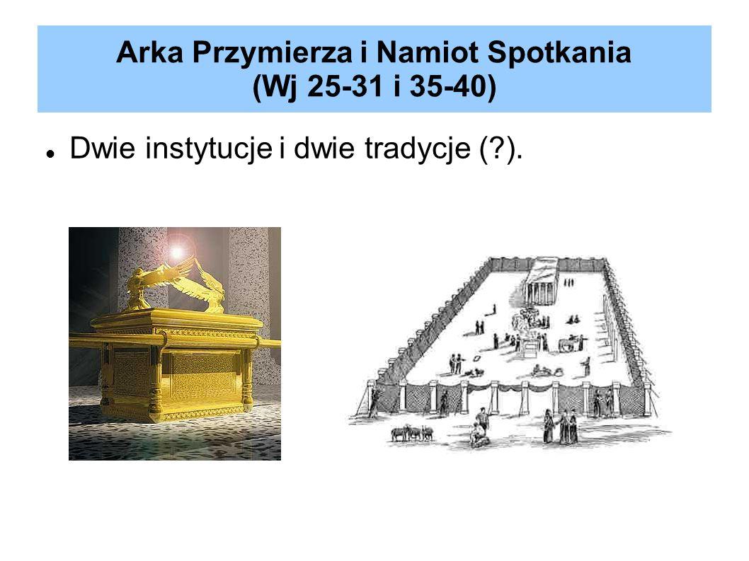 Arka Przymierza i Namiot Spotkania (Wj 25-31 i 35-40)