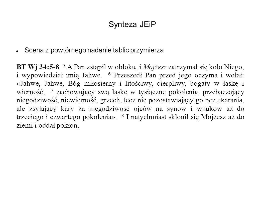Synteza JEiP Scena z powtórnego nadanie tablic przymierza.