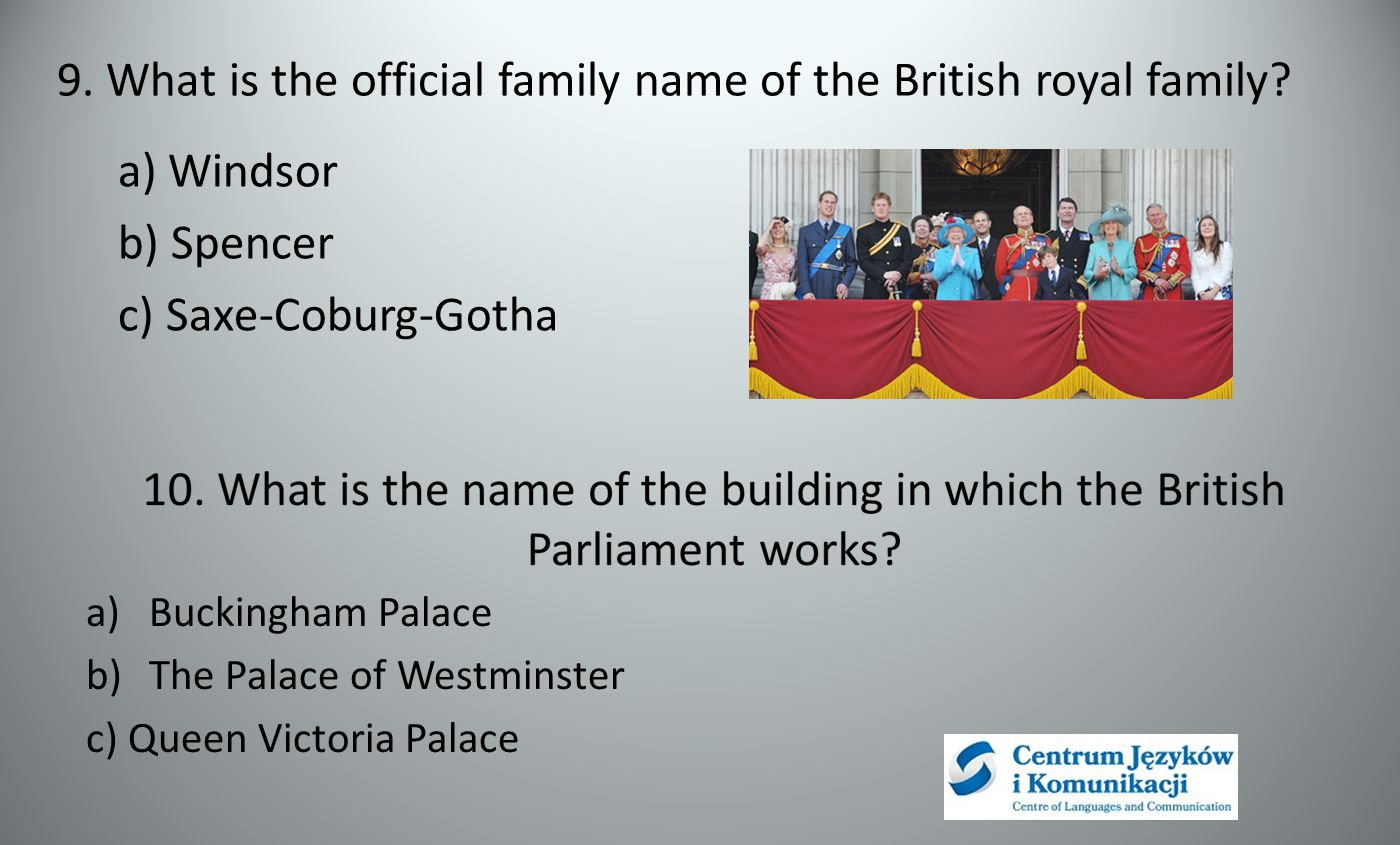 9. What is the official family name of the British royal family