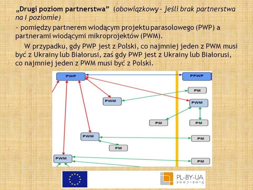 """""""Drugi poziom partnerstwa (obowiązkowy – jeśli brak partnerstwa na I poziomie)"""