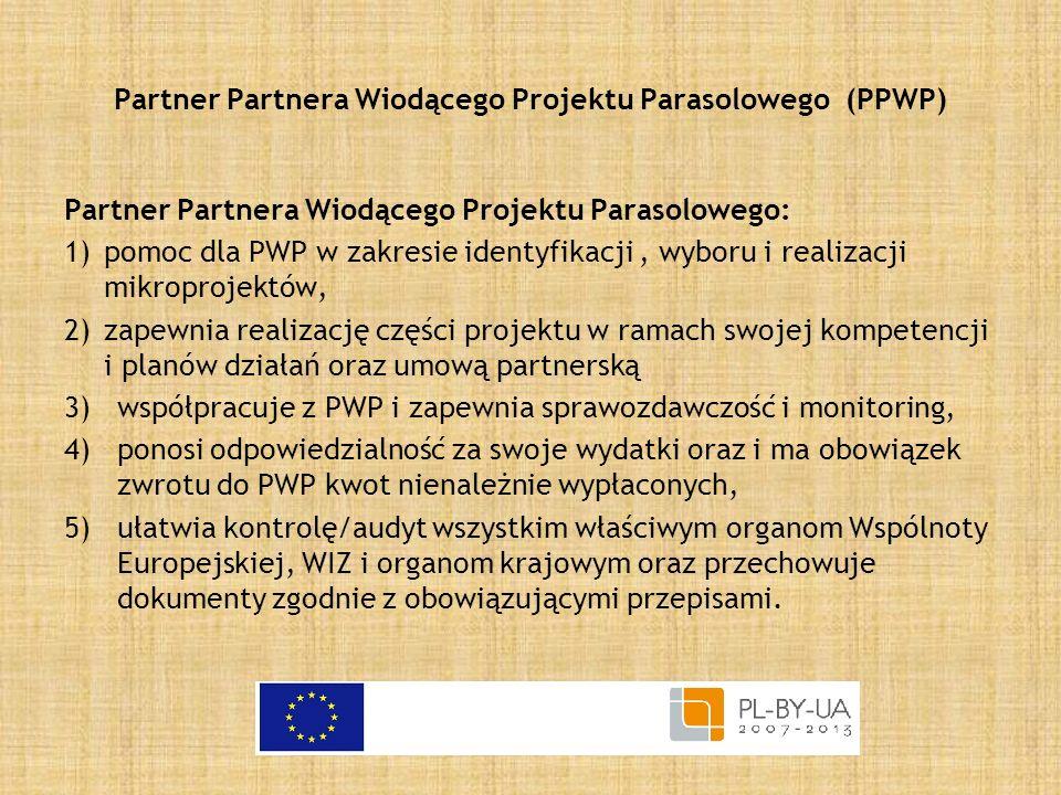 Partner Partnera Wiodącego Projektu Parasolowego (PPWP)