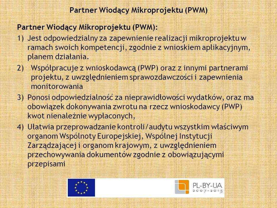 Partner Wiodący Mikroprojektu (PWM)