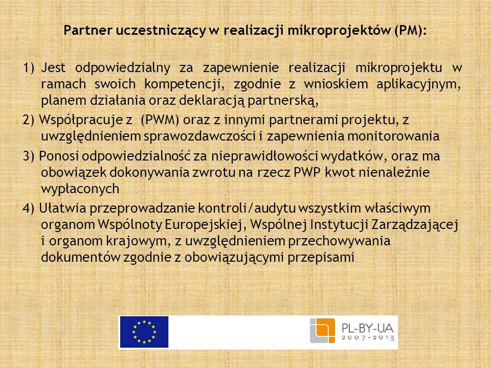 Partner uczestniczący w realizacji mikroprojektów (PM):