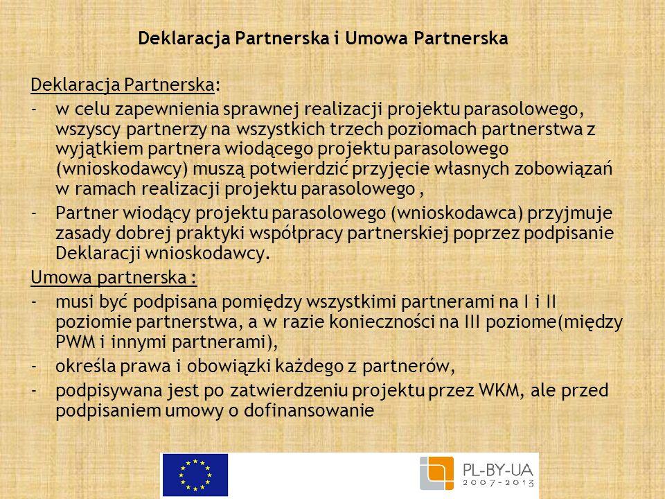 Deklaracja Partnerska i Umowa Partnerska