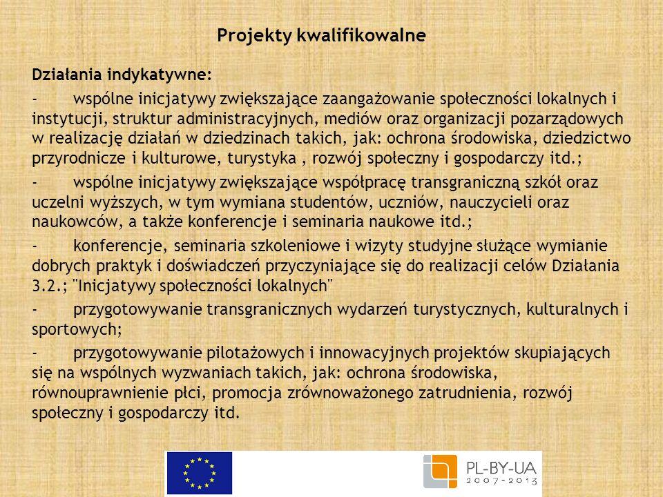 Projekty kwalifikowalne
